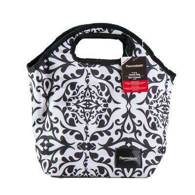 Thermotastic Insulated Lunch Bag, Black & White (1906-0926)