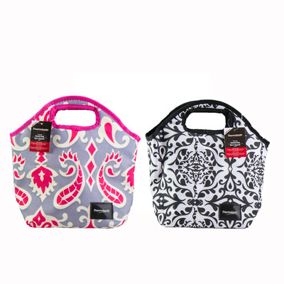 Thermotastic Insulated Lunch Bag 2pc Set (Black&White and Pink&Grey)