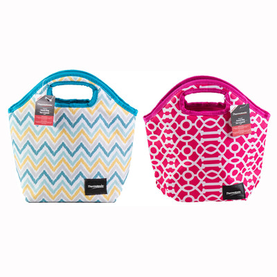 Thermotastic Insulated Lunch Bag 2pc Set (Pink&White and Blue&Yellow)