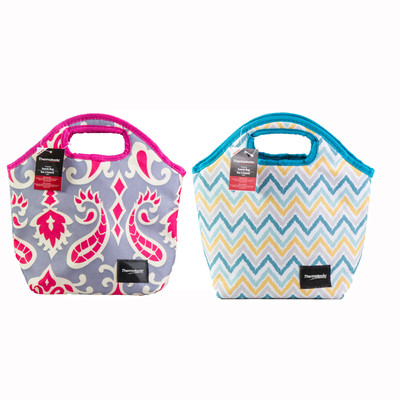 Thermotastic Insulated Lunch Bag 2pc Set (Blue&Yellow and Pink&Grey)