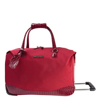 "David Jones Faux Leather 20"" Wheeled Duffle Bag"