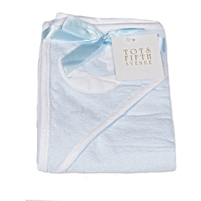 Hooded Towel -100% Cotton -  Moon & Star