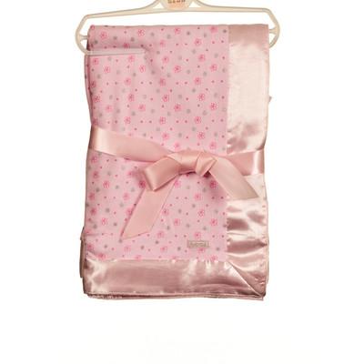 Pink AOP Cotton Interlock Blanket - Pink