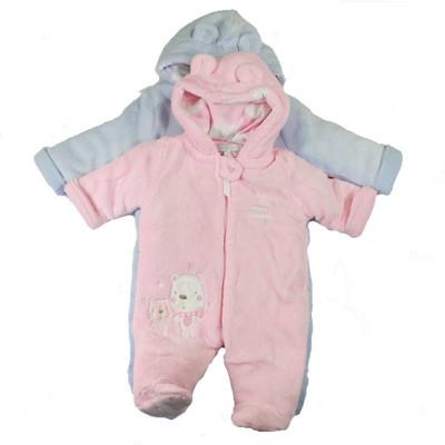 Fleece Plush Pram - Blue or Pink