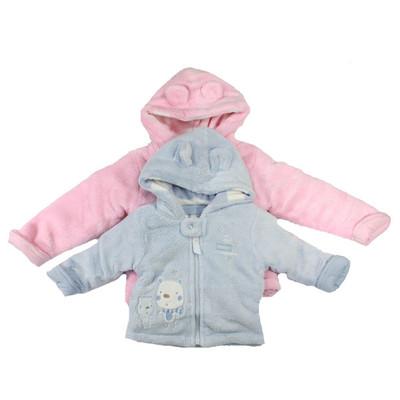Fleece Plush Jacket - Blue or Pink