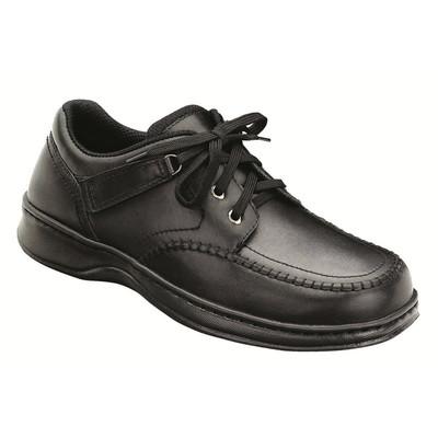 Orthopedic Footwear - Ortho Feet Men's Tie Less Comfort Jackson Square Black