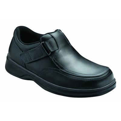 Orthopedic Footwear - Ortho Feet Men's Two Way Strap Comfort Carnegie Black