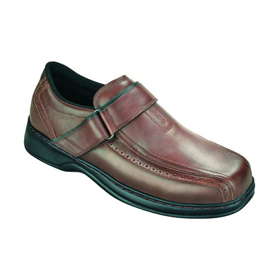 Orthopedic Footwear - Ortho Feet Men's Strap Lincoln Centre Comfort Brown