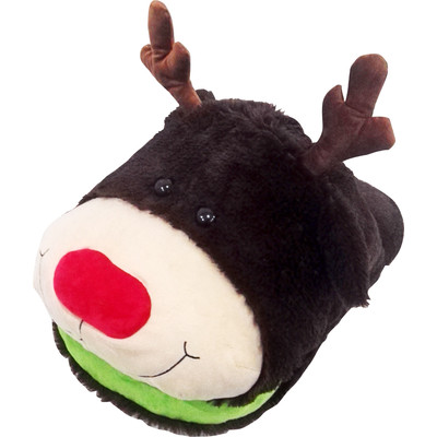 Massage Slipper Cute Cuddly  Moose