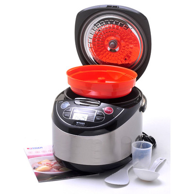 Tiger JAX-T18U-K 10-Cup (Uncooked) Micom Rice Cooker with Food Steamer & Slow Cooker