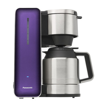 Panasonic NCZF1V Coffee Maker with High Quality Stainless Steel & Glass Finish (Violet)