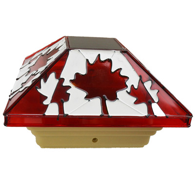 Fusion Solar Fence Post Light, Canada Day (16880)