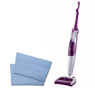 Sienna Dynamo Pro Steam Mop & Sweeper Bundle w/ 2 Bonus Replacement Cloth Pads