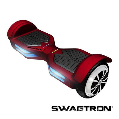 SWAGTRON T3 Self Balancing Electric Scooter with Bluetooth, Garnet (Red) (89717-6)