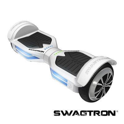SWAGTRON T3 Self Balancing Electric Scooter with Bluetooth, White (89717-5)
