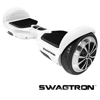 SWAGTRON T1 Self Balancing Electric Scooter, White (88570-5)