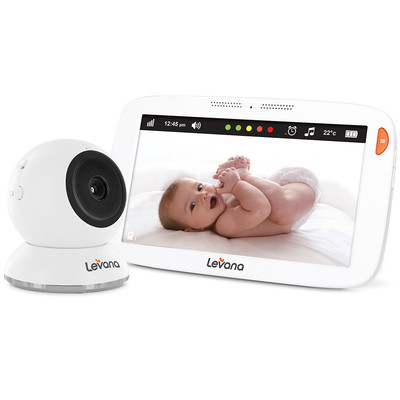 """Levana® Amara™ 7"""" Touchscreen High Definition Video Baby Monitor with 12 Hour Battery Life & Rapid Recharging"""