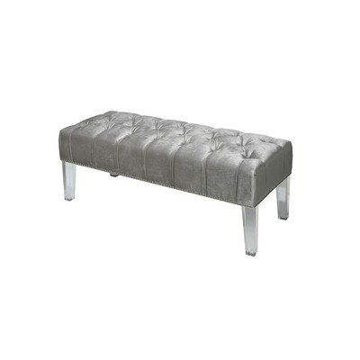 Monroe Bench - Grey Velvet