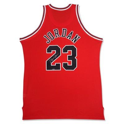 "Michael Jordan Autographed Chicago Bulls Mitchell & Ness ""97 - 98"" Away/Red Jersey"