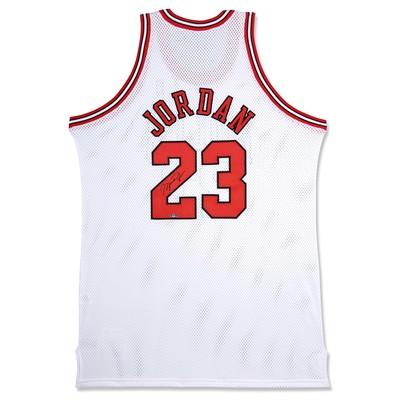 "Michael Jordan Autographed Chicago Bulls Mitchell & Ness ""97 - 98"" Home/White Jersey"