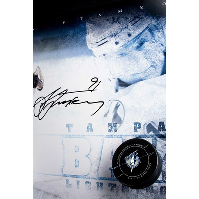 """Steven Stamkos Signed Tampa Bay Lightning Framed """"Slap Shot"""" - Limited to 25"""