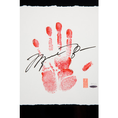 """Michael Jordan Autographed Chicago Bulls """"Tegata Lithograph""""  - Framed and Limited to 123"""