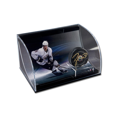 Taylor Hall Signed Edmonton Oilers Puck with 8x10 in Display Case - Ltd /50