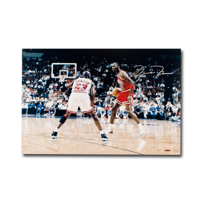 """Michael Jordan Autographed Chicago Bulls """"Driven From Within"""" 24x16 Photo  - Limited to 123"""