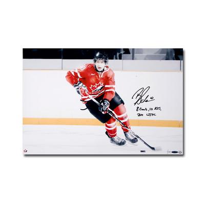 """Brayden Schenn Signed """"8 Goals, 10 Asts 2011 WJHC"""" Team Canada 24x16 Photo  - Limited to 25"""