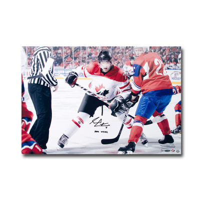 """Sean Couturier Autgraphed and Inscribed """"2011 WJHC"""" Team Canada 24x16 Photo  - Limtied to 25"""