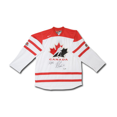 Brayden Schenn & Sean Couturier Dual Signed Team Canada Nike White Jersey  - Limited to 30