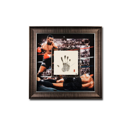 """Mike Tyson Autographed """"Tegata"""" 36x36 Mosaic  - Framed and Limited to 20"""