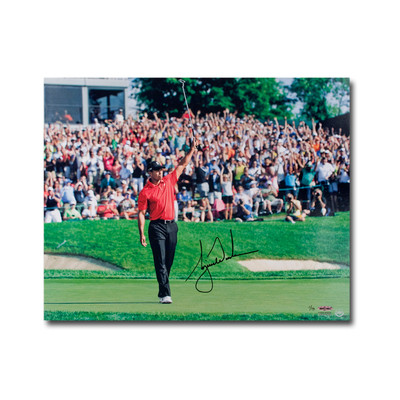 """Tiger Woods Autographed """"73rd Victory Celebration"""" 16x20 Photo  - Limited to 73"""