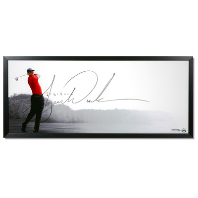 """Tiger Woods Autographed """"The Show"""" Framed Display"""