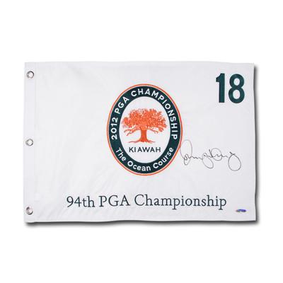 Rory McIlroy Autographed 2012 PGA Championship #18 Embroidered Pin Flag