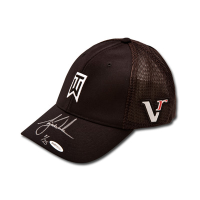 """Tiger Woods Autographed Nike 2012 """"Victory"""" TW Black Cap  - Limited to 25"""