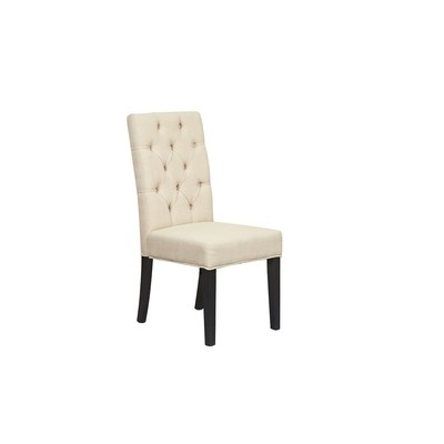 Les Chair (Set of 2)- Available in Beige and Grey Fabric