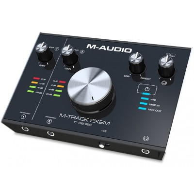 M-Audio 2-In/2-Out 24/192 USB Audio/MIDI Interface - M-Audio - MTRACK2X2M