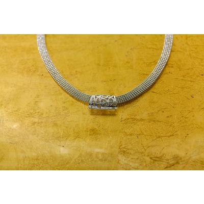 """Flora """"pendant"""" ribbon chain necklace"""