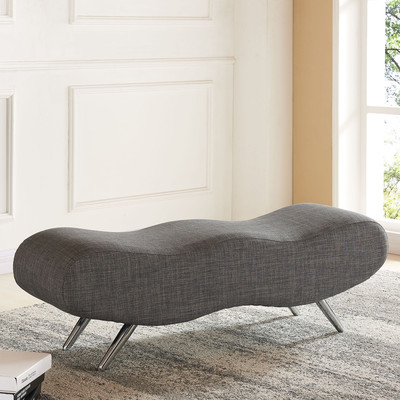 !NSPIRE FABRIC DOUBLE BENCH - GREY