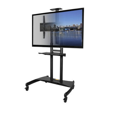 Kanto MTM82PL Mobile TV Mount with Adjustable Shelf for 50-inch to 82-inch TVs (800152716091)