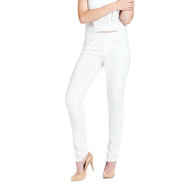 Bluberry women's White slim leg denim