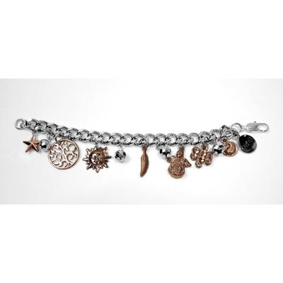 """The Believer"" charm bracelet - rose gold"