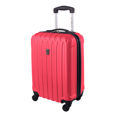 """Atlantic Necessity Collection 20"""" Dark Pink Spinner Carry-on"""