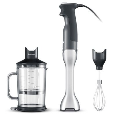 Breville BSB510XL REF Control Grip Hand Blender with Whisk and Chopper