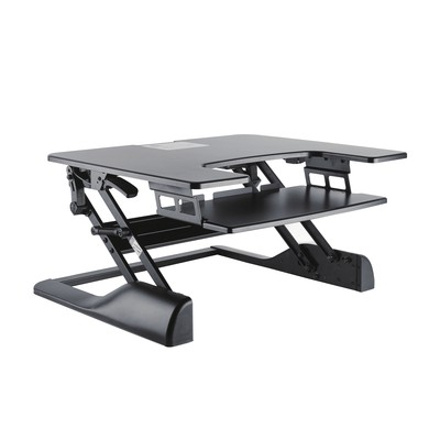 TygerClaw Sit-Stand Desktop Workstation Stand (Black) TYDS14013