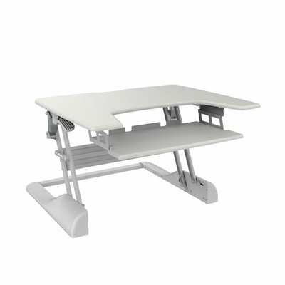 TygerClaw Sit-Stand Desktop Workstation Stand (White) TYDS14014