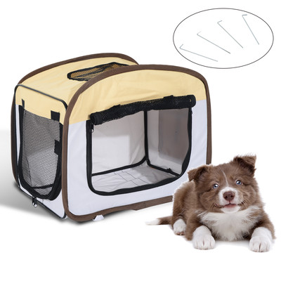 PawHut Foldable Dog Crate Soft Sided Pet Carrier Portable House