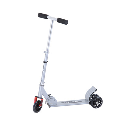 HOMCOM Foldable Teens Adult Scooter Push Youth with Shock Absorption, Silver