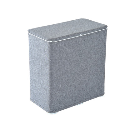 HOMCOM Washing Clothes Elevated Laundry Basket Hamper Storage Sorter Foldable